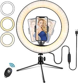 "LED ringlicht statief 10""Desktop ringlicht, draadloze afstandsbediening statief,selfie make-up Youtube TIK Tok Live"