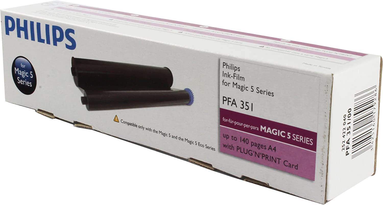 2 mal Faxrolle für Philips magic 5 Basic Eco Primo Inkfilm ersetzt PFA351 352