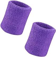 CDJX 2 Pack of Wrist Sweatband, 4 Inch Sports Sweatband Wristband Soft Thicken Cotton,for Tennis Gymnastics Football Basketball, Running Athletic Sports