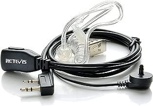 Retevis Auricular transparente antirruido con micrófono PTT Compatible con Walkie Talkis Retevis RT24 RT21 RT22 RT27 RT15 RT3 RT5 RT5R RT5RV RT7 RT81 Kenwood PUXING Baofeng UV-5R 888S (1 pieza)
