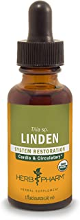 Herb Pharm Linden Liquid Extract for Cardiovascular and Circulatory Support - 1 Ounce