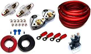 GS Power 80 Amp Constant (150 A Surge) Dual Auxiliary Battery Charge Isolator Wiring Kit with 4 Gauge CCA Cable Isolation Relay Ring Terminal Fuse Holder for Off Road Automotive ATU RV RZR UTV