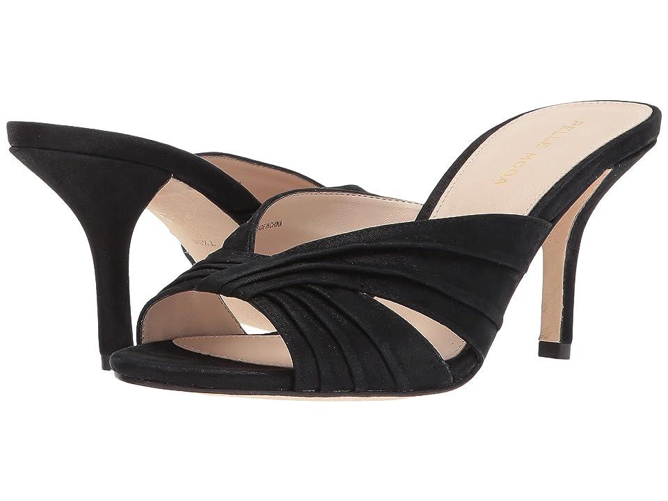 Pelle Moda Isla (Black Shimmer Suede) High Heels