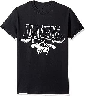 Janllow Misfits Danzig Tribal Skull Men's Crew Neck Cotton T Shirt