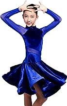 SCGGINTTANZ GD3102 Kid Latin Ballroom Dance Professional net Yarn and Velvet Splicing Design Race/Performance Dress for Girl