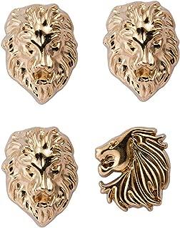 Men's Set of Lion and Jaguar Lapel Pin Gold