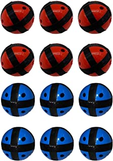 Silfrae Target Game Safety Fabric Dart Board Set with 2 Darts and 2 Balls for Boy and Girls (Red&Black x 6 + Blue&Black x 6, Ball)