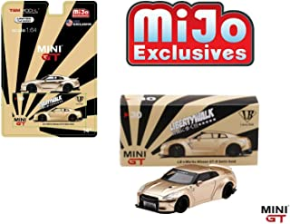 Mini GT Liberty Walk Works Sora Nissan GT-R R35 Type I Zero (Satin Gold) U.S.A. Limited Edition to 6,000 Pieces 1/64 Diecast Model Car by True Scale Miniatures MGT00030