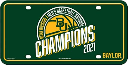 Rico Industries Baylor Bears 2021 Men's NCAA Division 1 Basketball National Champions Metal Auto Tag License Plate