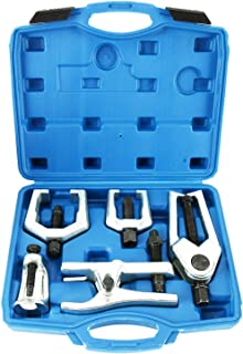 8milelake 6pc Front End Service Tool Kit Ball Joint Separator Pitman Arm Tie Rod Puller