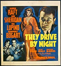 REDUCED 25 THEY DRIVE BY NIGHT 1940 WINDOW CARD POSTER BOGART CLASSIC