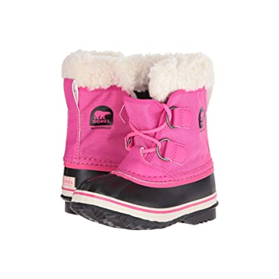 SOREL Kids Yoot Pac Nylon (Toddler/Little Kid) (Ultra Pink/Alpine Tundra) Girls Shoes