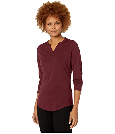 Royal Robbins Merinoluxtm Henley Long Sleeve (Malbec) Women