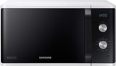 Samsung MG23K3614AW/EG Mikrowelle mit Grill / 23 Liter Garraum / 800 W/Großes Grillelement für gleichmäßige Bräunung/Kratzfester Keramik-Emaille-Innenraum