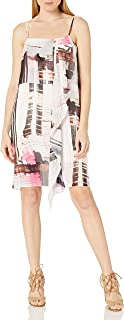 French Connection Womens 71HBM Cornell Sheer Dress Sleeveless Dress - Brown