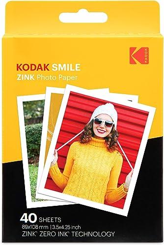 new arrival Kodak 3.5x4.25 popular inch Premium Zink Print Photo Paper (40 Sheets) Compatible with Kodak Smile Classic Instant sale Camera outlet online sale