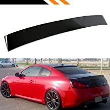 Cuztom Tuning Fits for Infiniti 2008-2016 G37 Q60 2 Door Coupe Glossy Black Rear Window Roof Spoiler Wing
