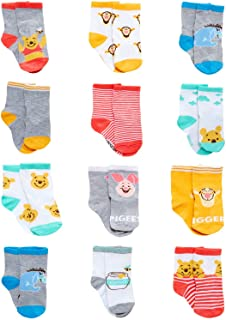 Baby Boys' Socks - 12 Pack Mickey Mouse, Lion King, Toy...