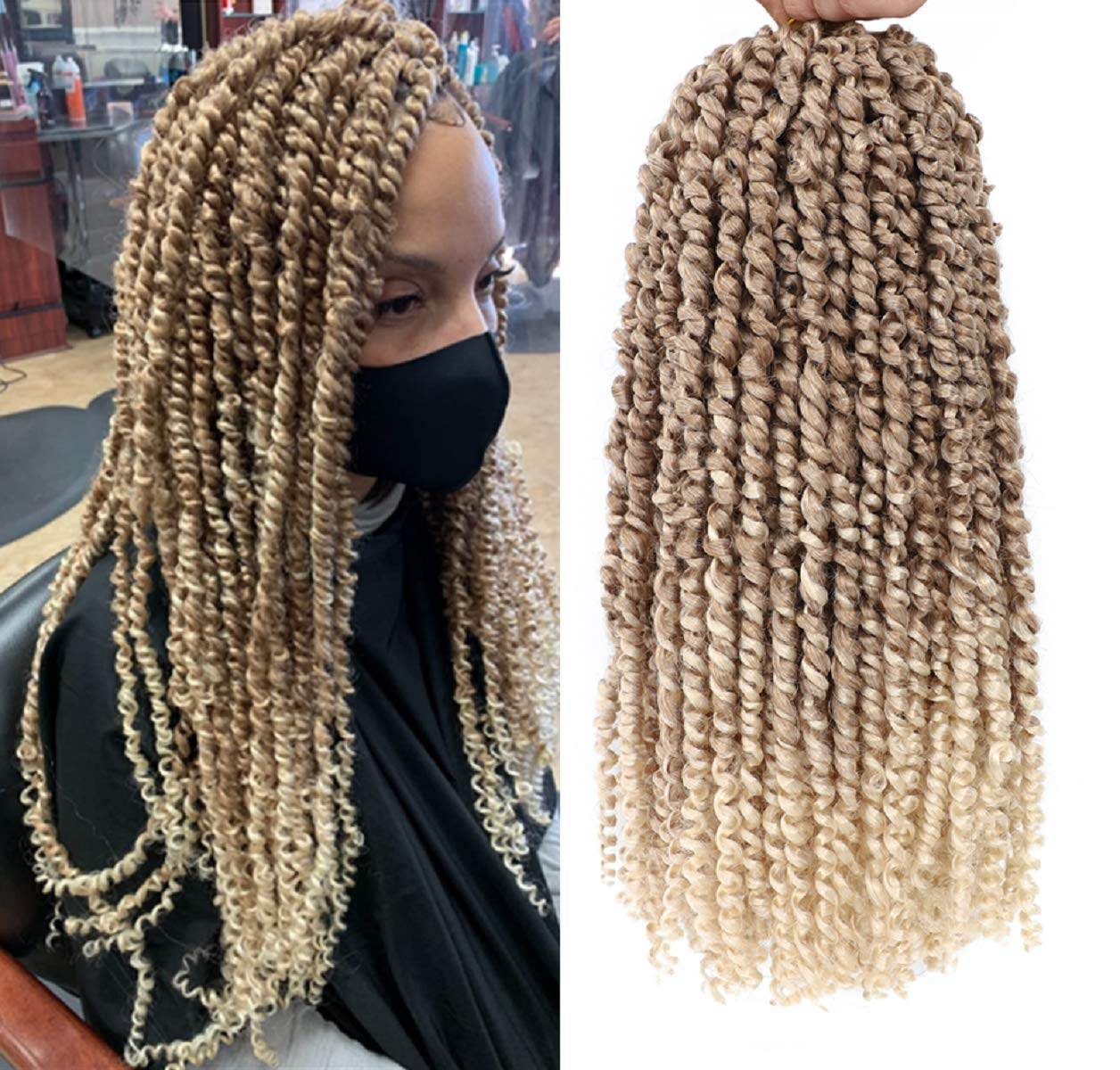6Packs Ombre 55% OFF Blonde Pre-twisted Passion Braiding 12in Choice Hair Twist