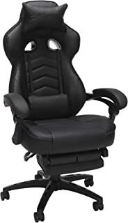 RESPAWN 110 Racing Style Gaming Chair, Reclining Ergonomic Chair with Footrest, in Black (RSP-110-BLK)