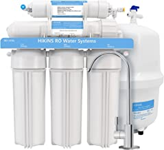 HiKiNS Reverse Osmosis Water Filtration System 125GPD 5-Stage Home Drinking RO Water Filter System with Large Flow 125GPD Membrane and Efficiency of Water Saving -FDA Certified