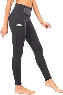 DEAR SPARKLE High Waist Yoga Pants Workout 3 Pockets Tummy Control Running Leggings Plus (S1)