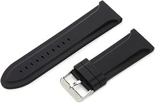 Hadley-Roma Men's MS3377RA 260 26-mm Genuine Silicone Diver Sport Watch Strap