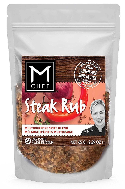 STEAK RUB MCHEF Spices 2.29 oz. cheap BBQ Gluten-free Rub Low-salt fo Max 87% OFF