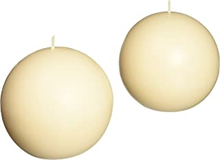 Zest Candle 2-Piece Ball Candles, 4-Inch, Pale Ivory Citronella