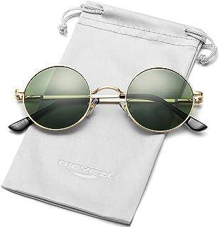 Round Flip Up Sunglasses for Men and Women - John Lennon Glasses 90's Retro Steampunk Style