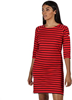 REGATTA Women's Hatsy' Boat Neck Casual Skirts and Dresses, True Red, 12