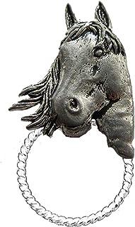 A1 - Broche con forma de cabeza de caballo (peltre inglés)