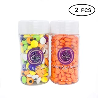 Apszst Christmas candy Edible Candy Decorations Eyeballs, Christmas Decorating candy Kit, Christmas Jumbo Candy Eyes Toppers, 2-Piece Christmas treats