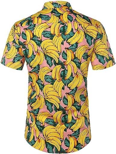 Camisa Hawaiana para Hombre Mujer Casual Manga Corta Camisas ...
