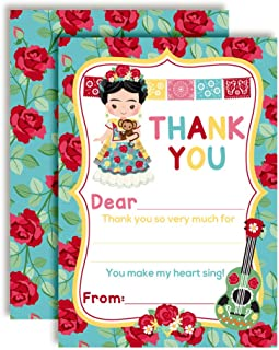 Frida Kahlo Fiesta Themed Thank You Notes for Kids, Ten 4