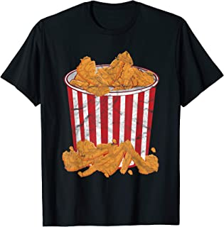 Fried Chicken Bucket Funny Halloween Costume T-Shirt