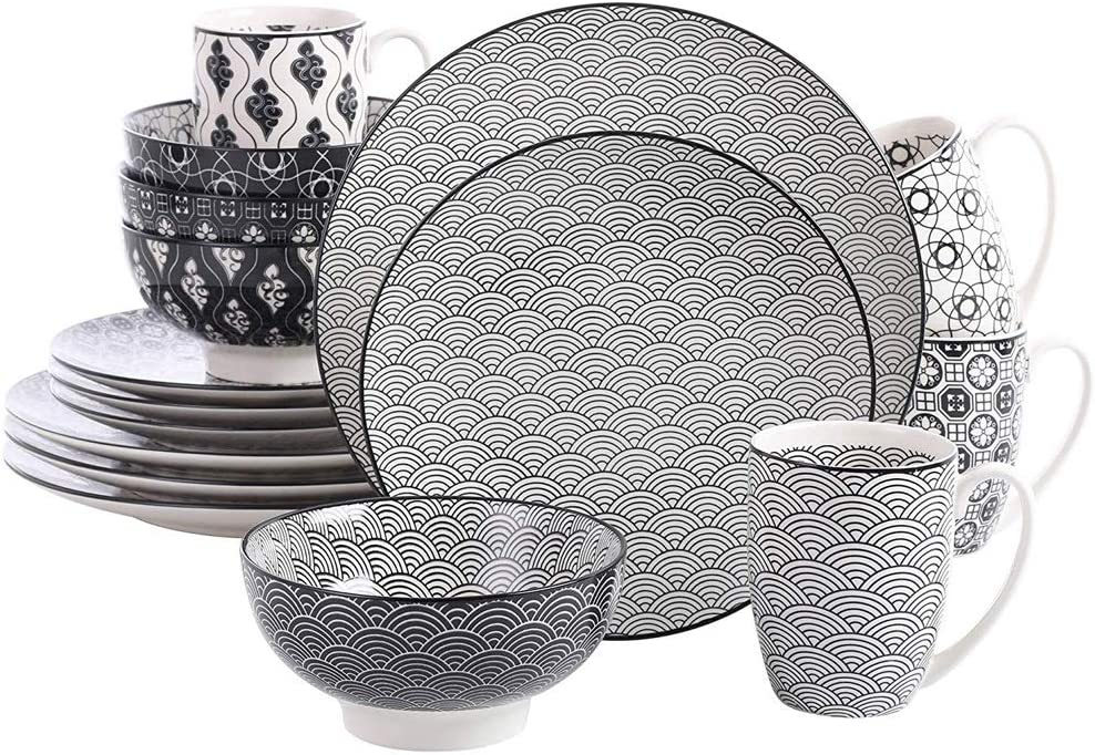 LKYBOA 16-Pieces Porcelain Hand Painted Max 90% OFF with Max 71% OFF Set Dinnerware 4Din
