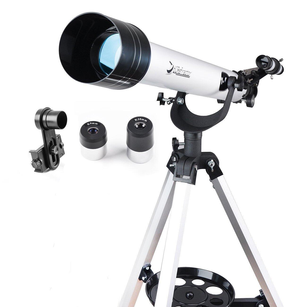 qhtl telescopio 60 mm AZ - Telescopio refractor con 10 mm ...