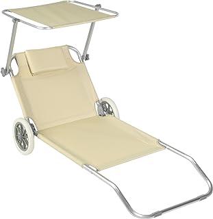 Lettino Spiaggia Mare Con Ruote Sedia Sdraio Trolley.Amazon It Lettino Trolley Da Spiaggia Mare Con Ruote E Lettino