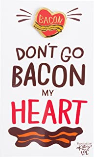 Enamel Pin and Card for Lapel, Backpack, Purse, Lanyard, Jacket (Bacon My Heart)