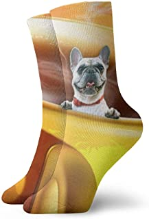 SundriesShop Paquete de calcetines de vestir para hombre, taza de café amarilla,..