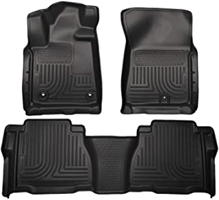 Husky Liners Fits 2012-13 Toyota Tundra CrewMax/Double Cab Weatherbeater Front & 2nd Seat Floor Mats (Footwell Coverage),Black,99591