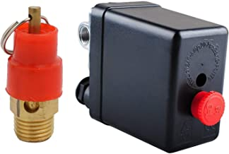 Central Pneumatic Air Compressor Pressure Switch Control Valve With 1/4