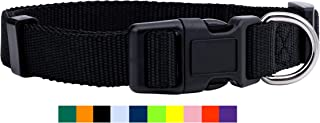 Native Pup Nylon Dog Collar Classic Solid Colors