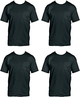 Fruit of the Loom Men's 4-Pack Pocket Crew-Neck T-Shirt -...