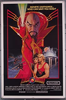 Flash Gordon (1980) Original U.S. One-Sheet Movie Poster 27x41 Folded SAM J. JONES MAX VON SYDOW TOPOL MELODY ANDERSON Very Fine Condition Folded Film directed by MIKE HODGES