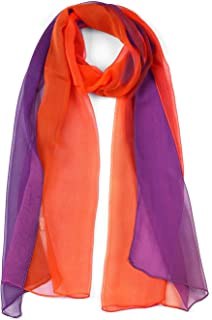 Long Chiffon Light Wedding Scarf Silky Gradient Color Party Scarf Spring Summer For Women