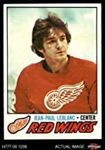 1977 Topps # 133 J.P. LeBlanc Red Wings (Hockey Card) Dean's Cards 6 - EX/MT Red Wings
