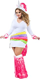 Party King Women's Plus-Size Rainbow Unicorn Adult Costume