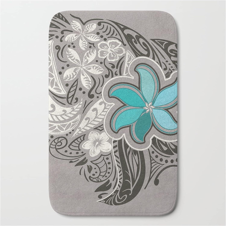 Society6 Teal Hawaiian Floral Tattoo Design Threads Ranking TOP18 Under blast sales N on by Sun